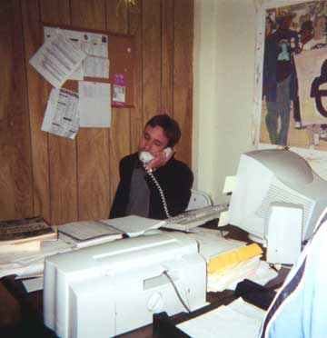Seattlle ACORN Boss Dough Bloch on the Phone