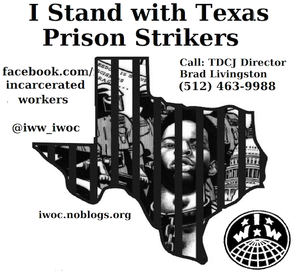 I Stand with Texas Prison Strikers Out Now